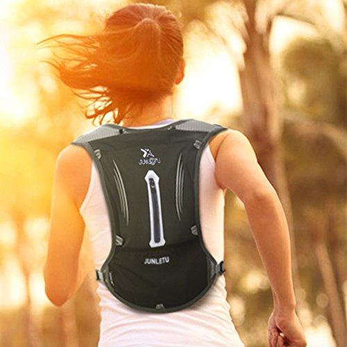 Trinkrucksack DeFe 2L Hydration Rucksack mit 1.5L BPA Frei Trinkblase Pack Atmungsaktive Leichtgewicht Laufrucksack für Radfahren Joggen Wandern Camping und Bergsteigen blau