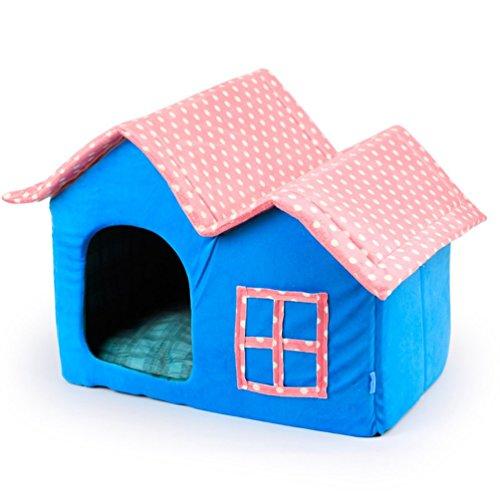 Komia Dreamhouse Landhausstil Kuschelhaus für große Katzen und kleine Hunde Hundehaus doubly katzenhöhle design