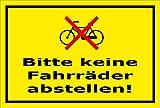 Melis Folienwerkstatt Schild - Fahrräder abstellen - 30x20cm | Bohrlöcher | 3mm Aluverbund – S00050-049-C -20 Varianten