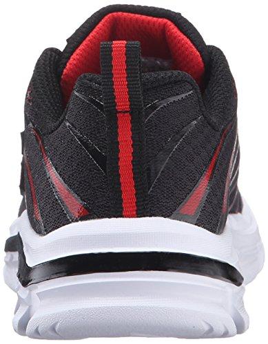 Skechers Nitrate, Baskets Basses Fille, Anthracite/Noir Noir (Black/Red)