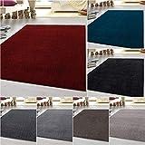 HomebyHome tappeto moderno a pelo corto, economico, tinta unita mélange, per salotto, camera da letto, corridoio, cucina, 100% polipropilene, Beige, 160 x 230 cm