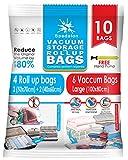 Vacuum Storage Bags - Pack of 10 Pack - 6 Jumbo Vacuum +