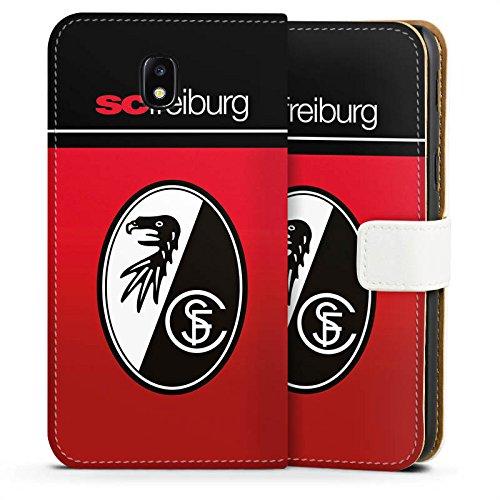 Samsung Galaxy J5 2017 Tasche Hülle Flip Case SC Freiburg Fanartikel Scf Fussball