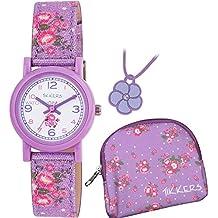Tikkers Girls Purple Glitter Daisy Watch Gift Set (IJ738ID)