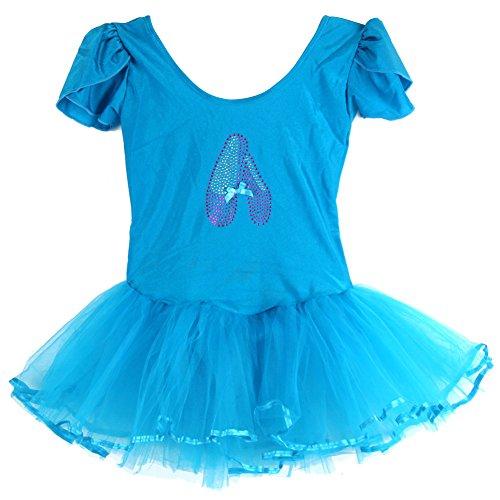 Moresave Bambina balletto manica corta del vestito dal tutu Leotard di ginnastica di usura di ballo 3-7 anni