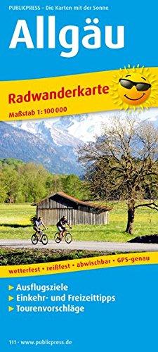 Allgäu: Radkarte mit Ausflugszielen, Einkehr- & Freizeittipps, wetterfest, reissfest, abwischbar, GPS-genau. 1:100000 (Radkarte/RK)