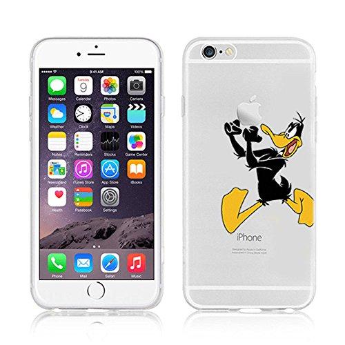 Ronney Support de Disney Cartoon Transparent Coque souple en TPU pour Apple iPhone 5/5S/5C/5Se DAFFY