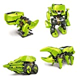 #8: Zaid Collections Cute Sunlight Solar Robot 4 In 1 Educational Toy Transform Into 4 Different Model