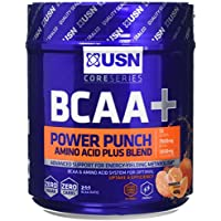 USN BCAA Power Punch Amino Acid Plus Blend, Tangerine, 400 g