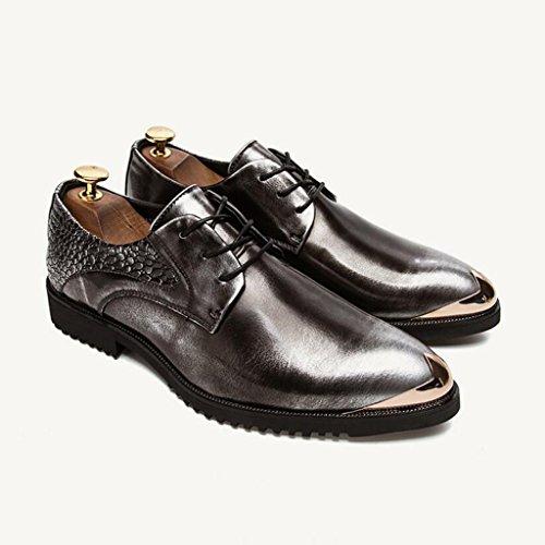 Hommes Occasionnels Chaussures Occasionnels En Cuir Occasionnel 37-42 Gris