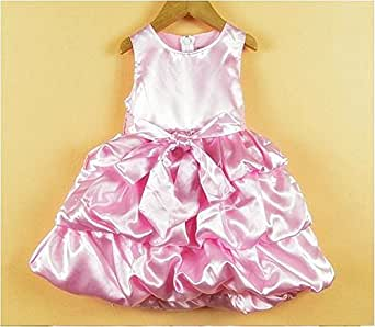TheTickleToe Baby Infants Girls Satin Party Birthday Gown Dress Pink 18-24 Months