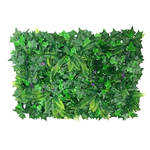 Ulabe Hedra Artificial de Pared Vertical para Decoración de Pared, 40 x 60 cm, Color Verde