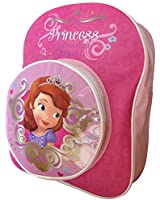 Girl's Pink Disney Princess Travel Backpack School Bag with Front Pouch