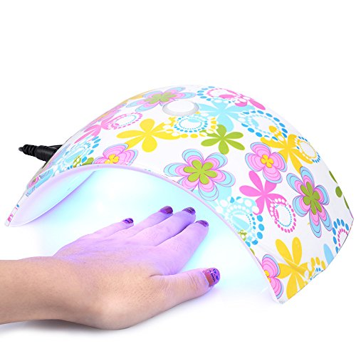 Anself 36W LED UV Nagellampe Nagel Gel Trockner Fingernagel & Zehennagel Gel Heilung Weißes Licht (Gel Uv-licht)