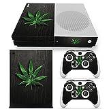 Xbox ONE S Designfolie für Konsole + 2 Controller + Kamera Sticker Skin Set – Weed Blatt