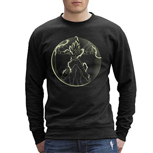 Vitruvian Saiyan Vegeta Dragon Ball Z Men's Sweatshirt