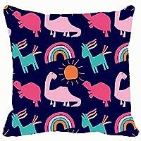 Home fashion pillowcase Sofa cushion rainbow unicorn dino sun pattern baby the arts animal The Arts 18x18 IN