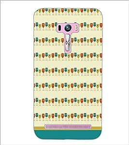 PrintDhaba Owl Pattern D-1702 Back Case Cover for ASUS ZENFONE SELFIE ZD551KL ULTRA (Multi-Coloured)