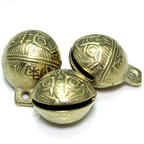 Kleine Glocke (Kleenes Traumhandel® Messing Schellen Glöckchen mit chinesischen Schriftzeichen (3, 36 mm))