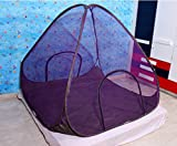Indistar Purple Foldable Double Bed Mosq...