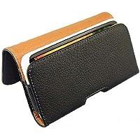 Hivel Funda de Cuero Piel con Trabilla para Cinturon Para Apple iPhone 5 / iPhone 5S Flip Billetera Carcasa Case Cover Negro