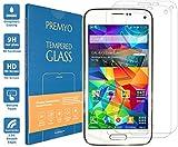 PREMYO 2 Stück Panzerglas Schutzglas Bildschirmschutzfolie Folie kompatibel für Samsung Galaxy S5 Mini HD-Klar 9H Anti Kratzer Blasen Fingerabdrücke
