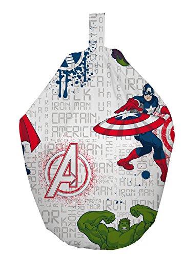 Marvel Avengers Sitzsack, Stoff, Weiß, 52x 38x 52cm (Stoff-wohnzimmer-bean-bag)