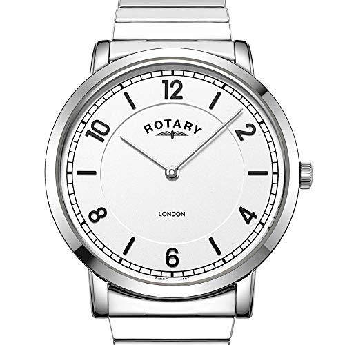 Rotary GB02765/18 - Orologio analogico da uomo in acciaio INOX