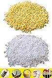 TooGet Pellet di Pura Cera d'api Gialla 200g di Pellet di Cera d'api Bianca 200g - 100% Naturale, Grado cosmetico, qualità Premium - 400g