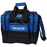 Ebonite Impact Plus 1 Ball Bowling Single Tasche mit Platz für Ball, Schuhe und Zubehör in Blau