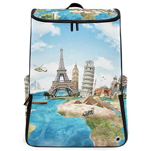 Rucksackreise um die Welt Eiffelturm-Rucksack Wandern für Teenager-Jungen-Mädchen Perfekte Schulreise Kindertagesstätte -