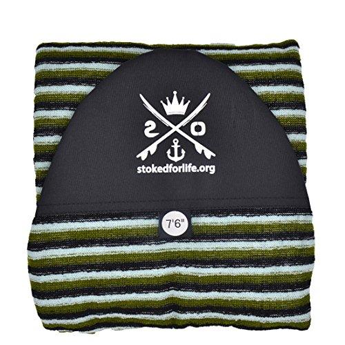 """stokedforlife Surfboard Socke 7\' 6\"""", grün   weiß   schwarz"""