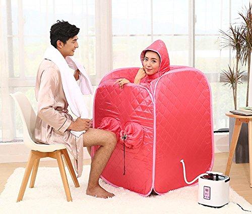 Z&HX-Tragbare Dampfsauna, Hoom Infrarot dampfende Sauna, Outdoor 2 Personen Sauna , rot (Outdoor-infrarot-sauna)