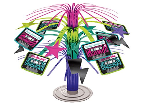 erdbeerloft - Party Dekoration Centrepiece - bunter 80er-Look - 1 Stück, 19cm, (Looks 80er Jahre Party 80er)