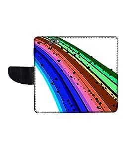 KolorEdge Printed Flip Cover For HTC One A9 Multicolor - (1478-50KeMLogo12369HTCA9)