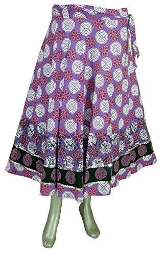 Indien Kleidung Designer Wickelrock Lila