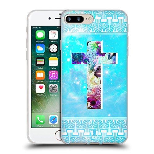 Head Case Designs Porcelaine Texturée Papiers - Croix Étui Coque en Gel molle pour Apple iPhone 7 / iPhone 8 Fleurs