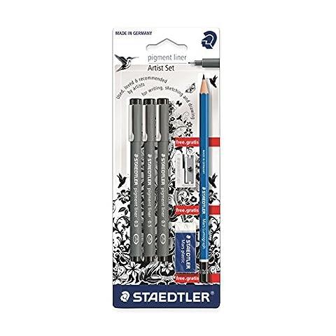Staedtler - Pigment Liner 308 - Blister 3 Feutres Noirs