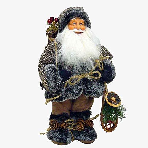 nta Claus Kleine Jacke, braun, Schneeschuhe, Maße 20 x 10 x 36 cm, Material: Stoff, Einheitsgröße ()