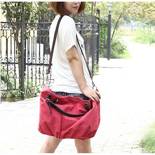 Segeltuchbeutel Europäische Und Amerikanische Art Und Weise Wild Retro Frauen Große Tasche Laptop Messenger Schultertasche Freizeit Personalisierte Multifunktionale Taschen Red