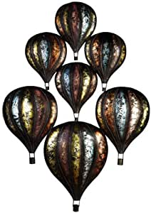 "Contemporary Metal Wall art - ""Hot Air Balloons"": Amazon ..."