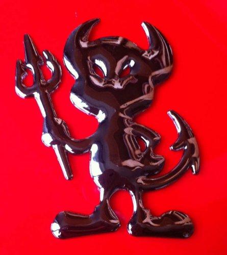 3D feste Metall schwarz Teufel-Dämon-Aufkleber-Auto-Emblem-Abzeichen Aufkleber Kit MARKE SKS Distribution ®