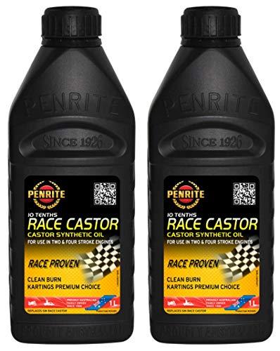 Penrite Oil 10 Tenths Race Olio Sintetico di ricino 20W40, a Due Tempi, Rotary Rx7 Rx5, 2 Litri