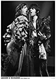 ROLLING STONES POSTER MICK JAGGER & KEITH RICHARDS LIVE ON STAGE KÖLN 1976
