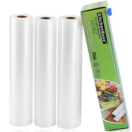 KitchenBoss Bolsas Vacío 3 Rolls 28x500cm
