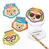 Baker Ross Blocs-Notes Suricate (Lot de 8) - Cadeaux pour Pochettes-Surprises pour Enfant