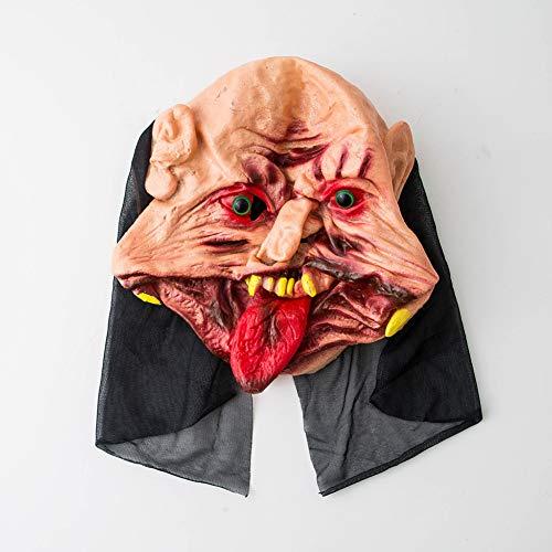 ENticerowts Halloweenmaske, gruselig, ekelhaft, umweltfreundlich, ungiftig, Vinyl, blutiger Geist, Zungenmaske, Kostüm, Party-Requisiten 2 -