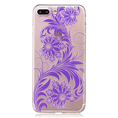 Pour iPhone 7 Plus (5,5 zoll) Case Cover, Ecoway TPU