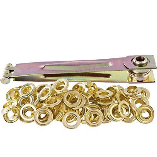 Ribiland - prbomp - Pince à oeillets + 50 oeillets métalliques