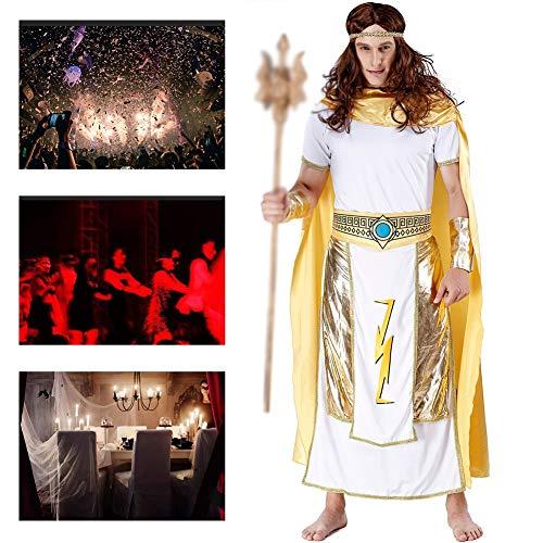 JH&MM Halloween Kostüm Herren Altgriechisch Ägyptisch König Anzug God of War Verkleidung Rollenspiel Maskerade Performance - Der Ägyptische König Kostüm